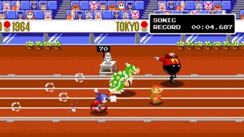 マリオ&ソニックオリンピックドット100メートル走